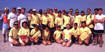 The PVCA dragon boat team.